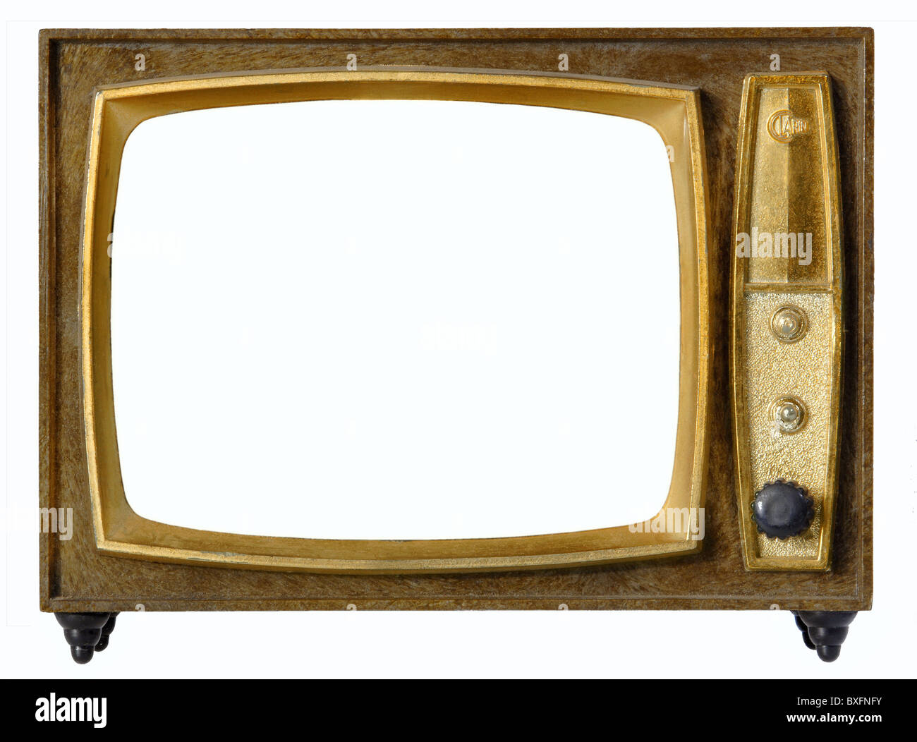 broadcast, television, tv set, toy tv frame, Spain, circa 1966 Stock ...