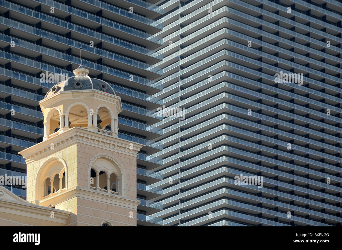 City Center is a massive collection of hotels, up-market shops and entertainment venues, and was opened in 2010 - Stock Image