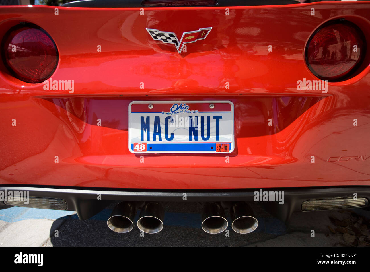 Vehicle registration plate Mac Nut on vehicle in Anna Maria Island, United States of America - Stock Image