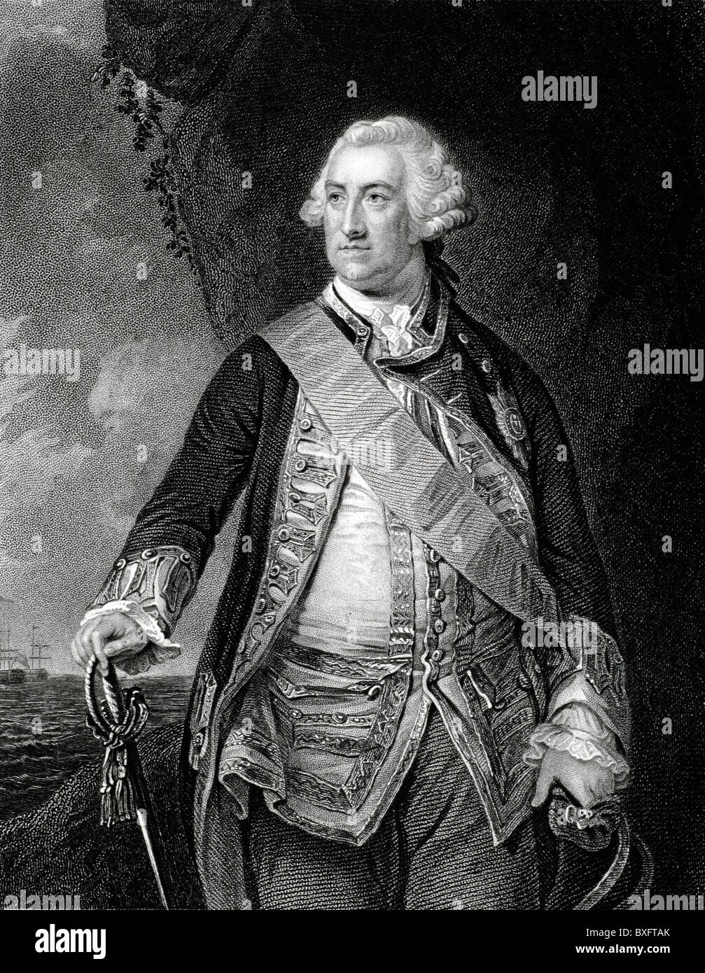 Admiral Edward Hawke (1705-1781), 1st Baron Hawke, British Naval or