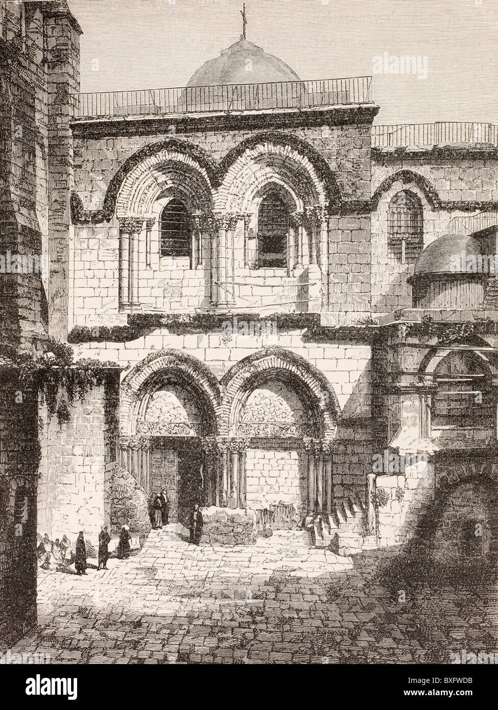 Jerusalem, Palestine. Church of the Holy Sepulchre in the 19th century. - Stock Image