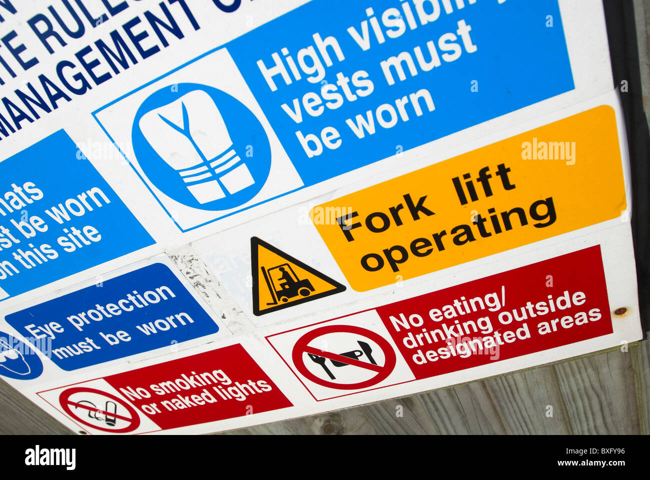 Site sign of rules and regulations - Stock Image