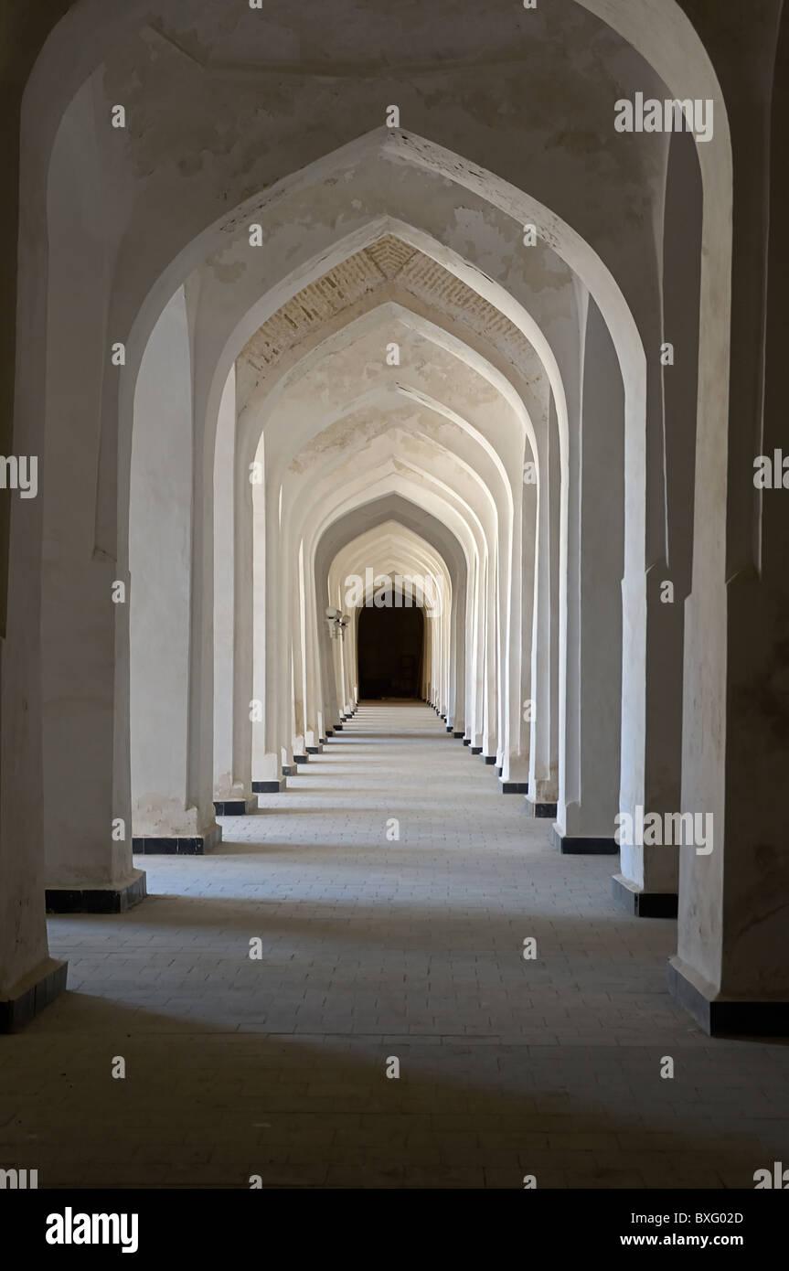 Interior Arches In The 16th Century Kalyan Mosque, Bukhara, Uzbekistan,  060919 5004