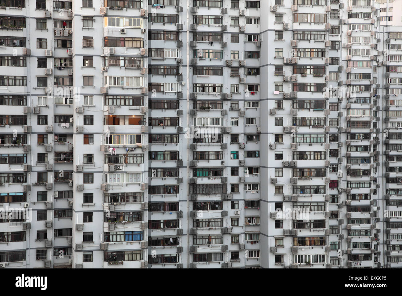 Highrise residential building in Shanghai, China - Stock Image