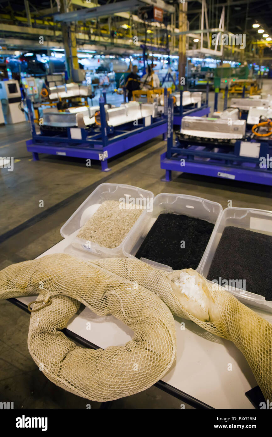 Recycled Oil Boom from Gulf of Mexico Oil Spill Used To Make Parts for Chevrolet Volt - Stock Image