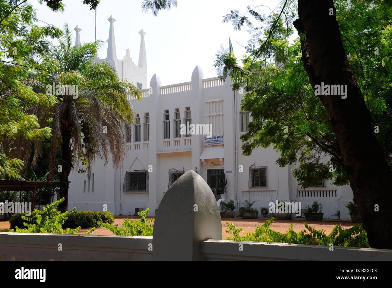 "Office of the ""Office du Niger"" in Segou, Mali Stock Photo"