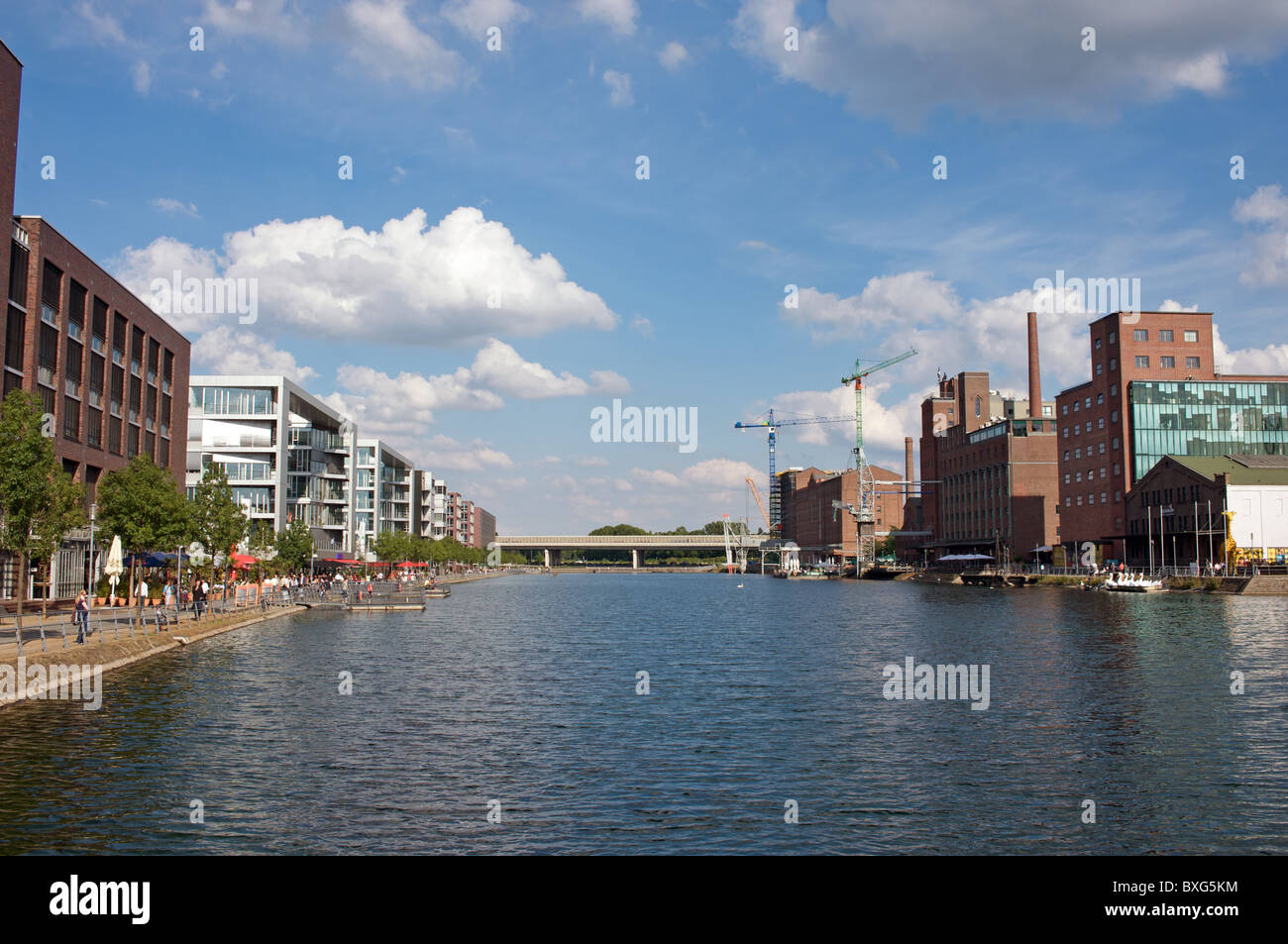 Innenhafen, Duisburg, Germany. - Stock Image