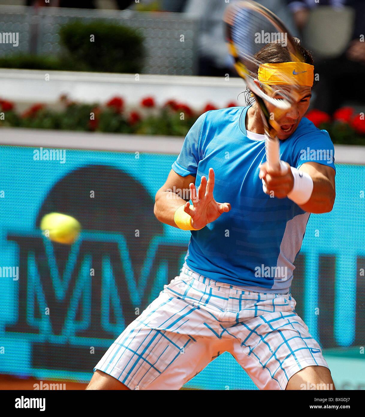 Rafael Nadal (ESP) in action against Nicolas Almagro (ESP) - Stock Image