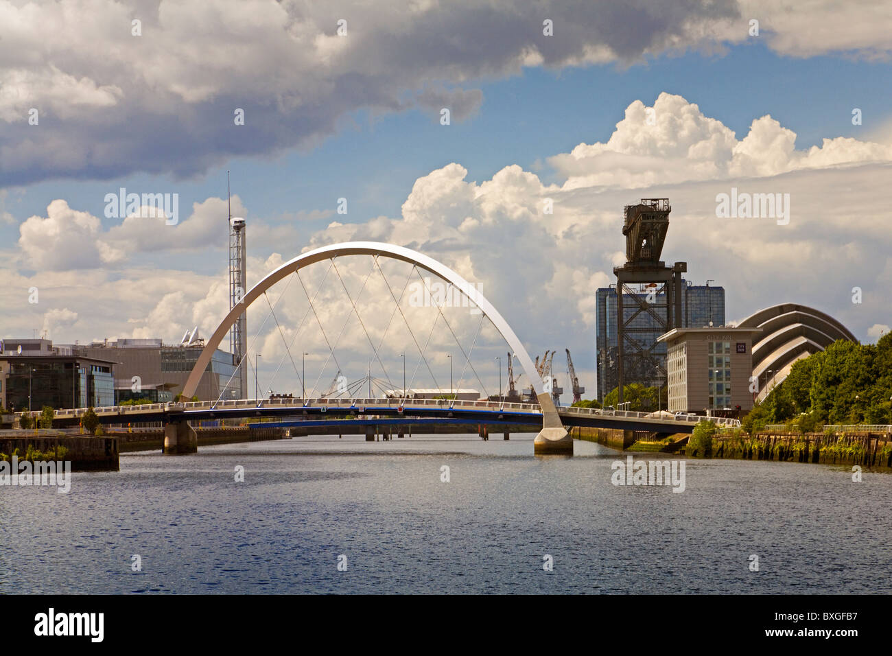 The Clyde Arc (Squinty Bridge), Glasgow - Stock Image