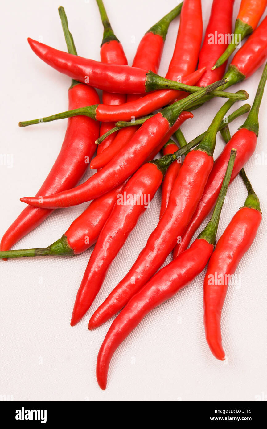 Bunch of chili peppers Stock Photo