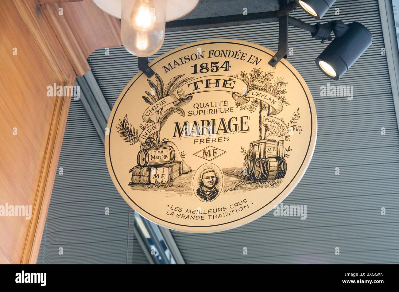 Mariage Frères store, Shinjuku, Tokyo, Japan - Stock Image