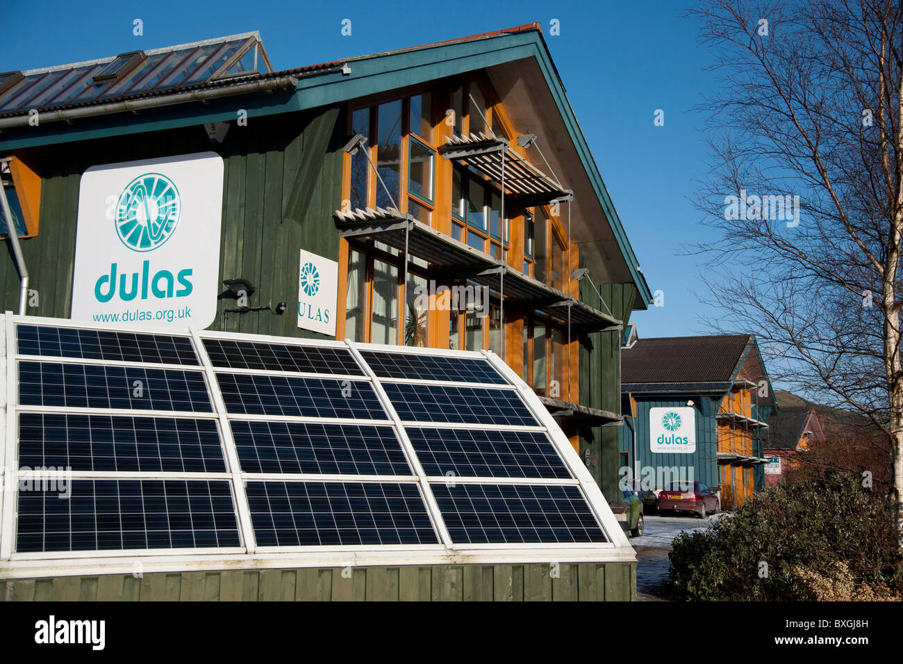 DULAS - professional services for renewable energy, Machynlleth Wales UK - Stock Image