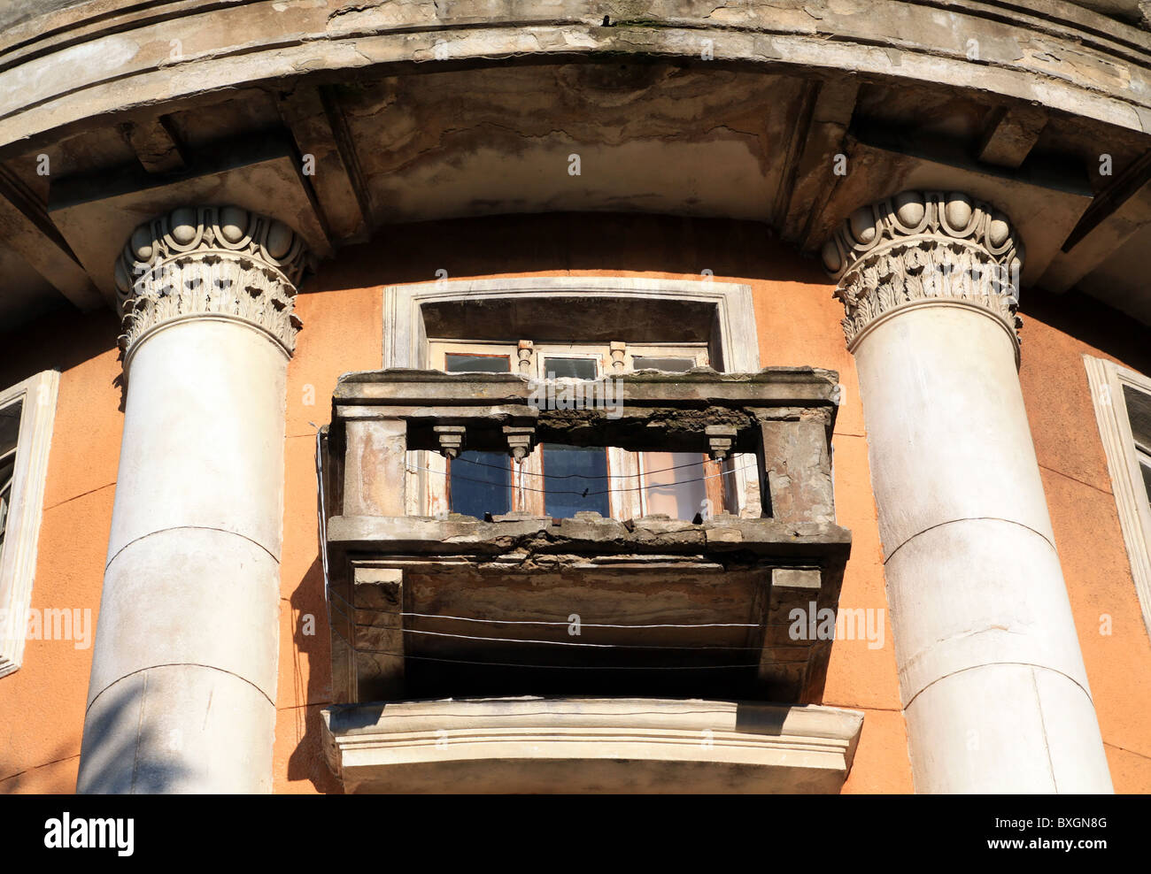 old balcony - Stock Image