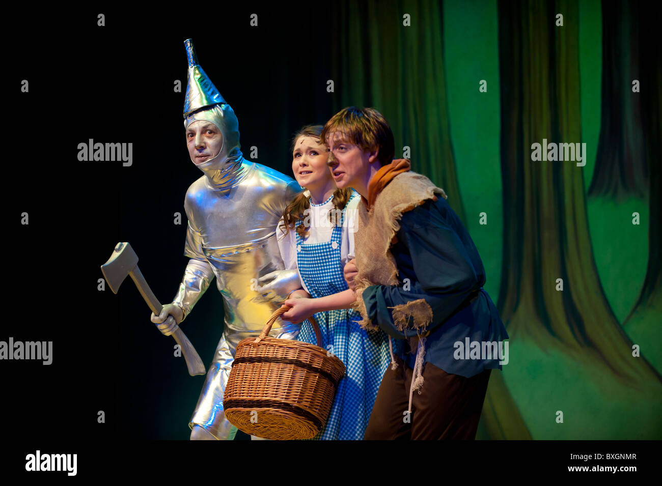 Amateur stage production of The Wizard of Oz, Aberystwyth Arts Centre Wales UK - Stock Image