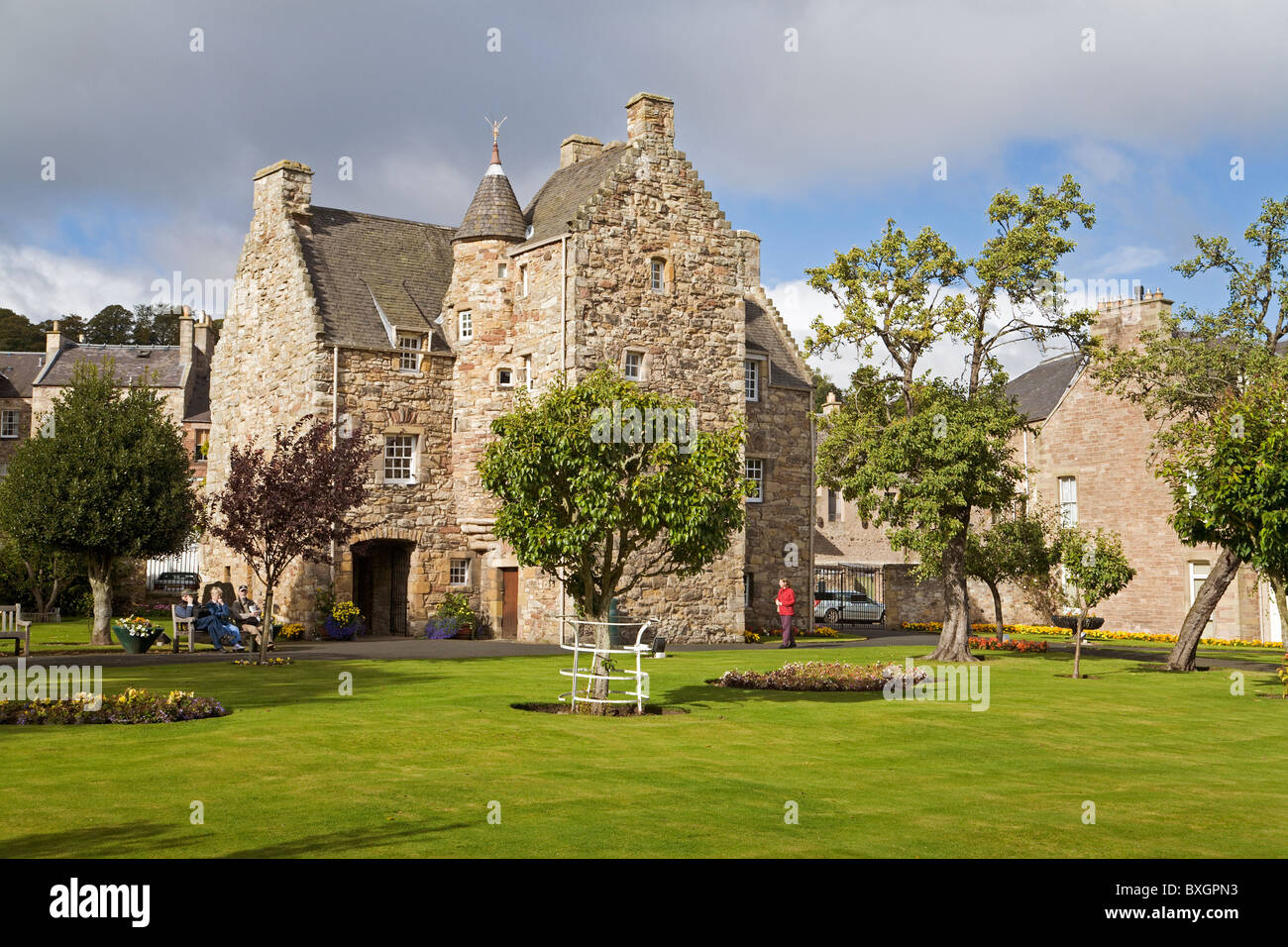 mary queen scots house jedburgh stock photos mary queen. Black Bedroom Furniture Sets. Home Design Ideas
