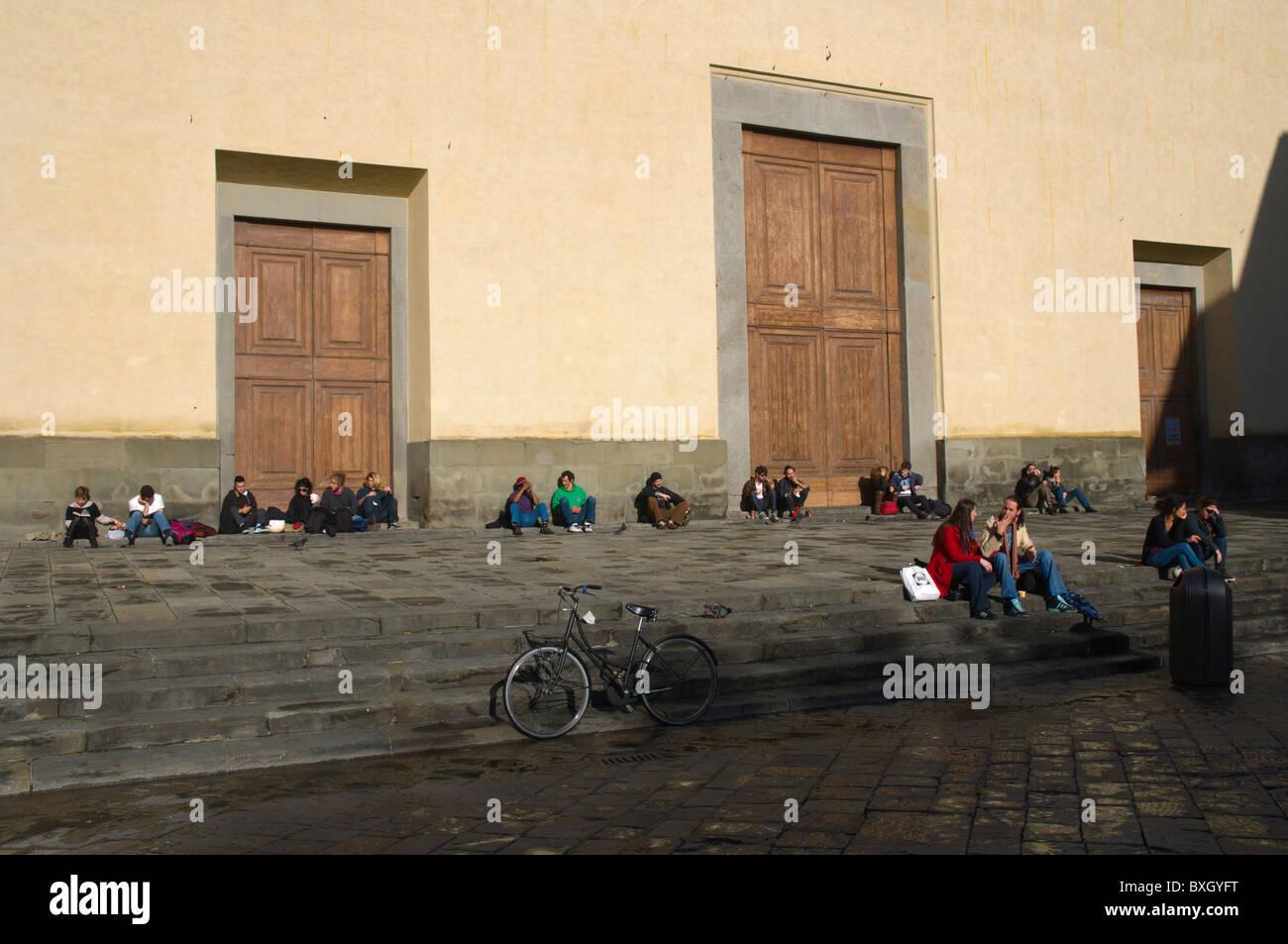 Basilica of Santo Spirito in Santo Spirito district central Florence (Firenze) Tuscany central Italy Europe - Stock Image