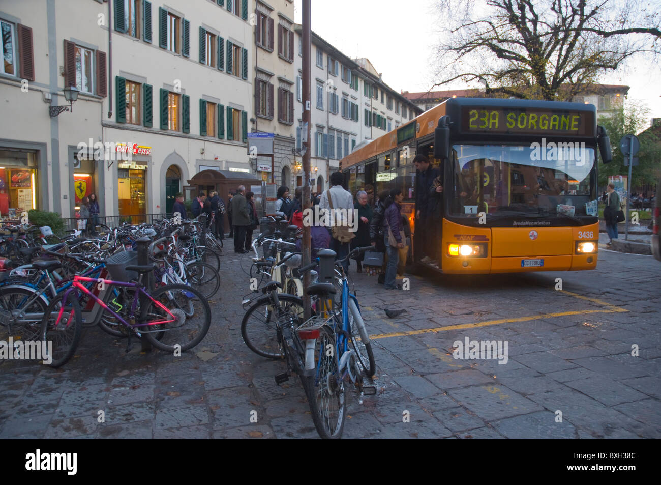 Bus at Piazza San Marco square central Florence (Firenze) Tuscany ...