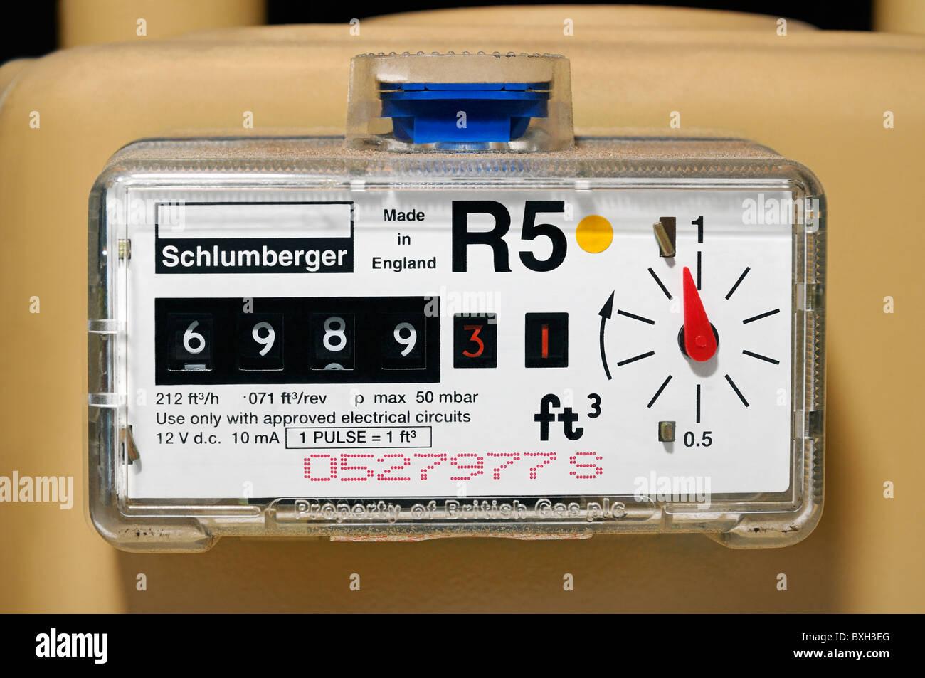 Gas Meter, UK. - Stock Image