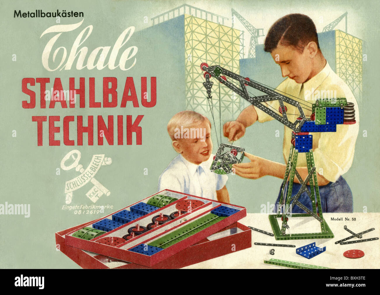 Germany Building Toys For Boys : Toys building sets metal construction set advertising