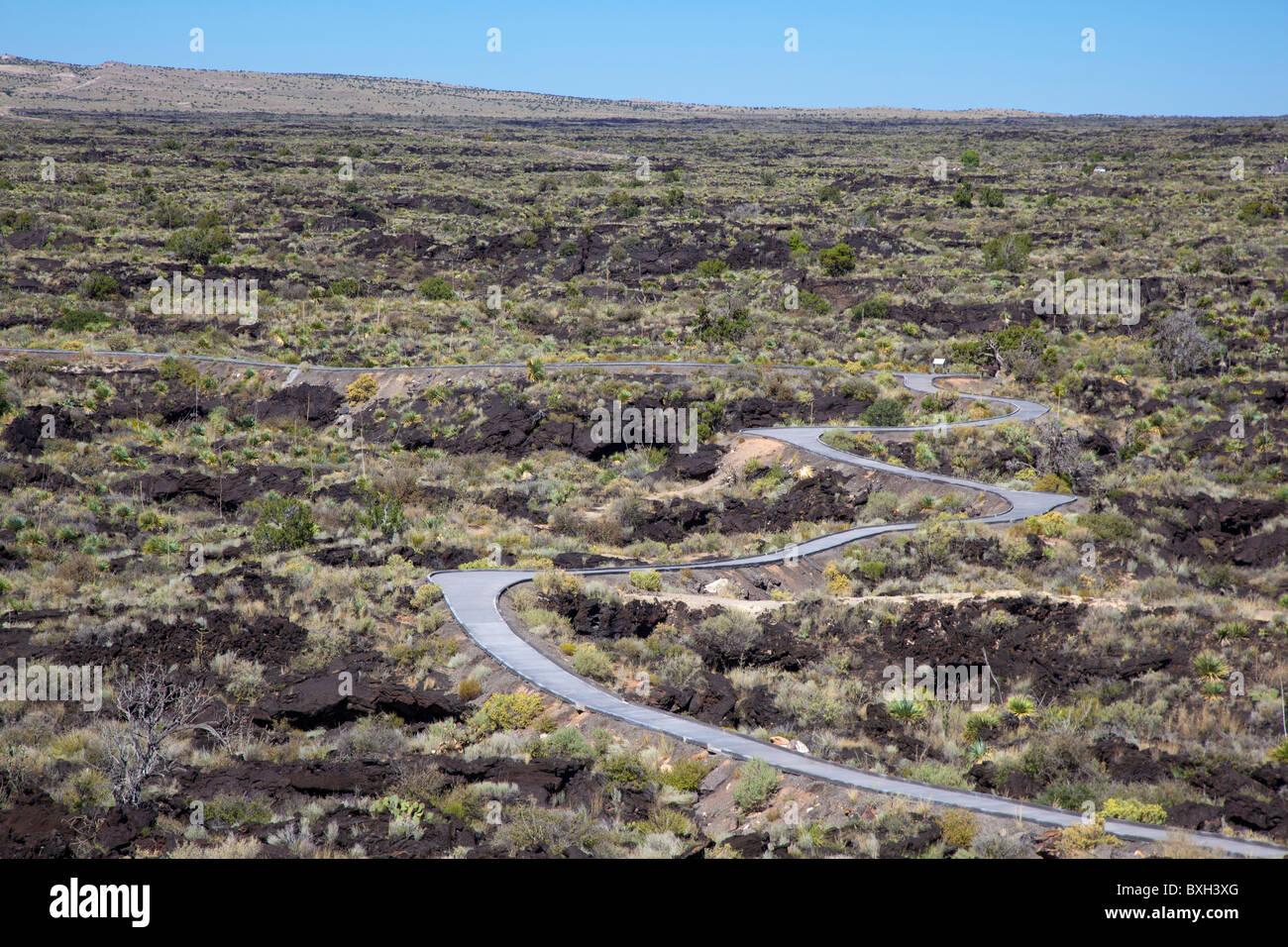 Malpais Lava Flow - Stock Image