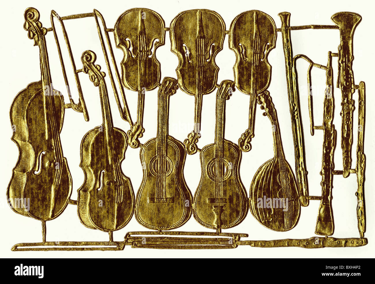 music, instruments, bowed instruments, Great Britain, circa 1905, Additional-Rights-Clearences-NA - Stock Image