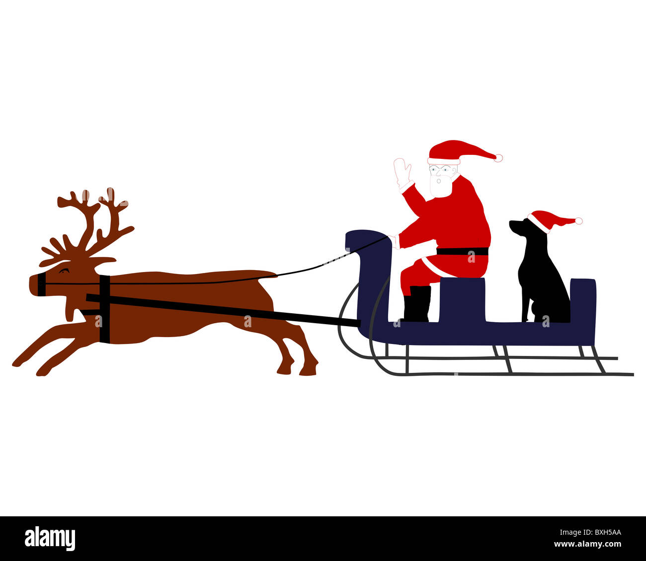 reindeer sleigh cut out stock images pictures page 3 alamy