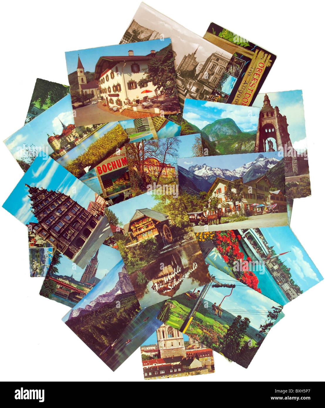 tourism, souvenir, picture postcards, Germany, circa 1965, Additional-Rights-Clearences-NA - Stock Image