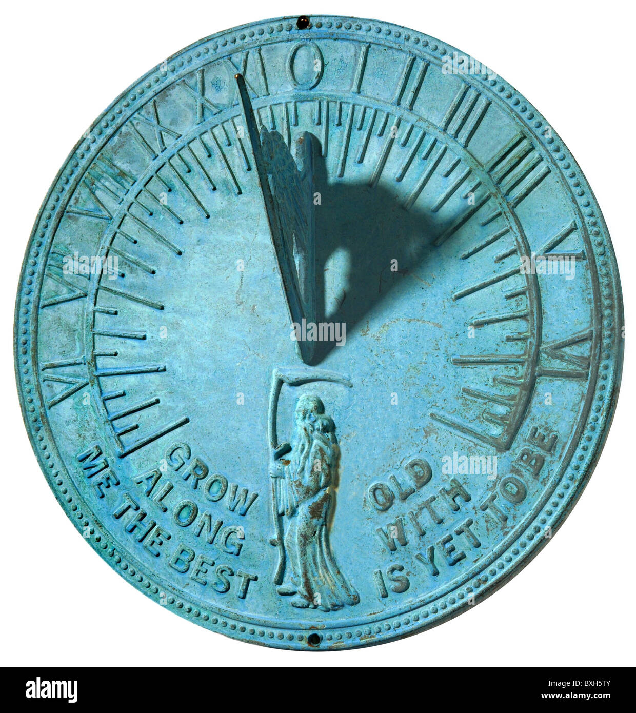 clocks, sundials, English sundial, Great Britain, 19th century, historic, historical, motto, saying, time, time - Stock Image