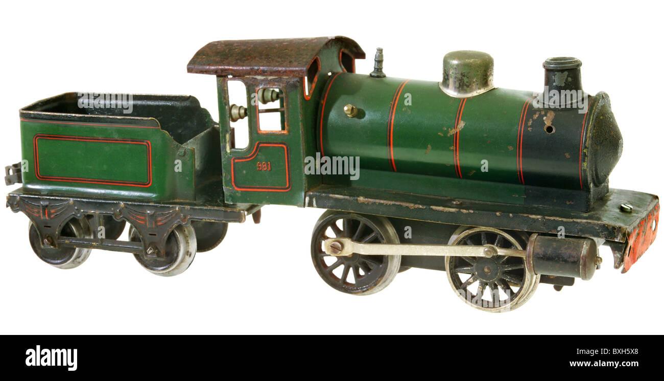 toys, model railway, Maerklin locomotive, type 981, track 1, Germany, 1924, historic, historical, 1920s, 20s, 20th Stock Photo