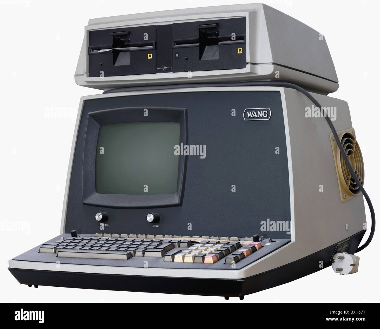 computing / electronics, computer, Wang laboratories, type 2200 PCS-II, early version of an electronic office computer, - Stock Image
