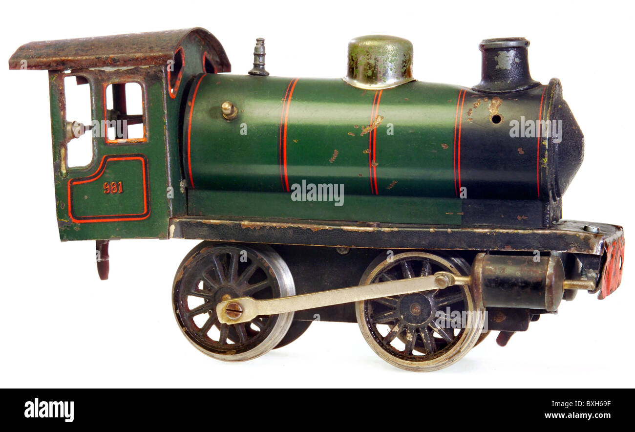 toys, model railway, Maerklin locomotive, type 981, track 1, Germany, 1924, historic, historical, 1920s, 20s, 20th Stock Photo