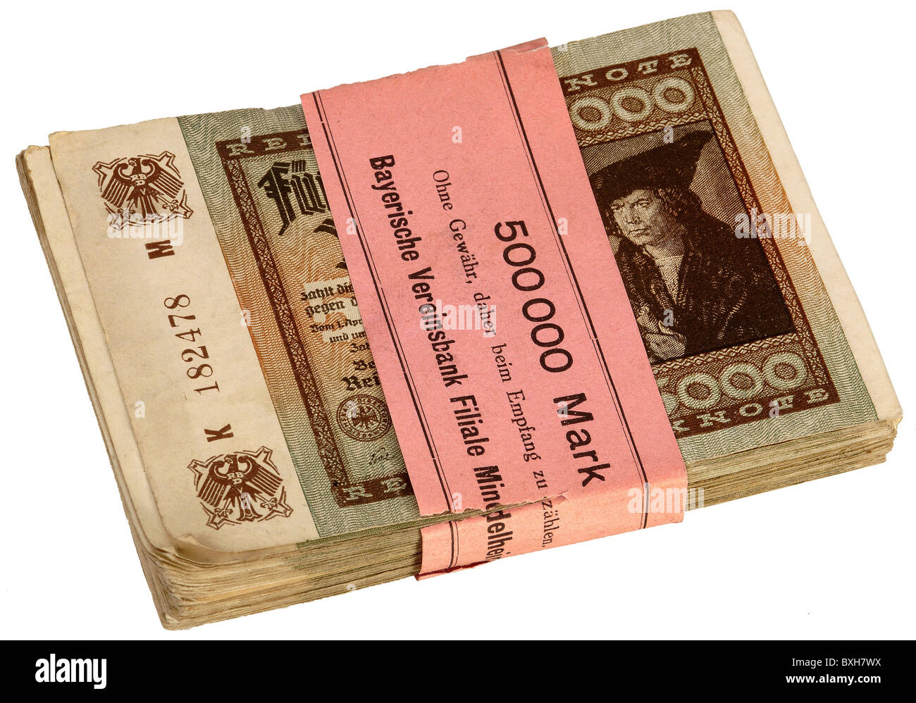 money / finance, bank notes, Germany, inflation money, December 1922, historic, historical, 1920s, 20s, 20th century, - Stock Image