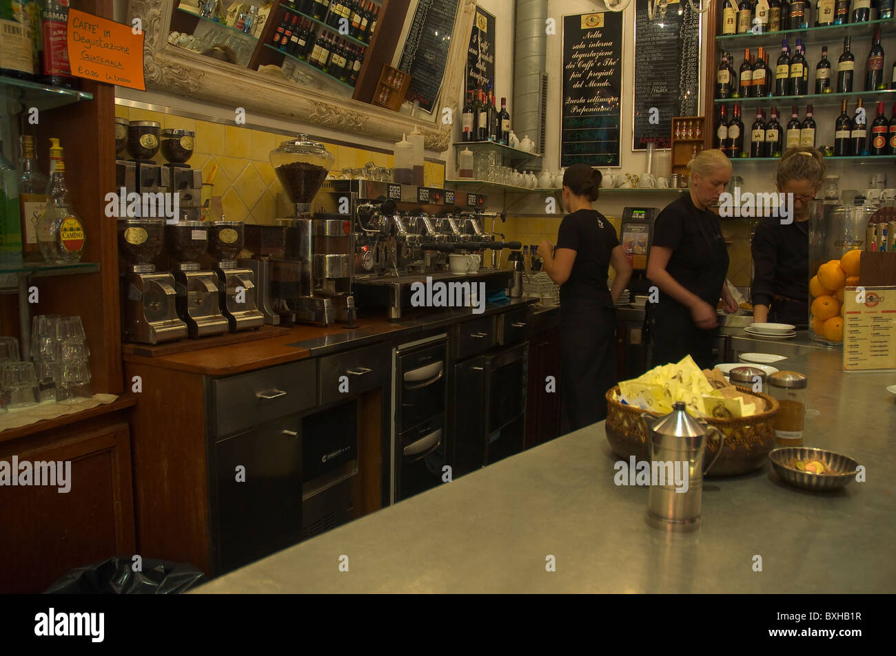 Cafe Chiaroscuro along Via del Corso central Florence (Firenze) Tuscany central Italy Europe - Stock Image
