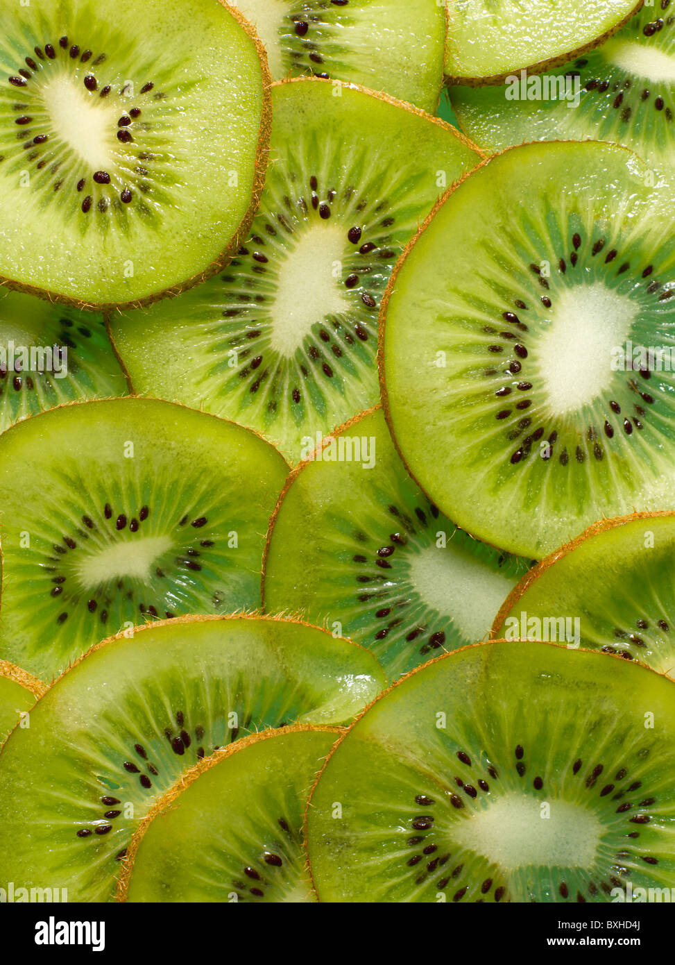 kiwi slices - Stock Image