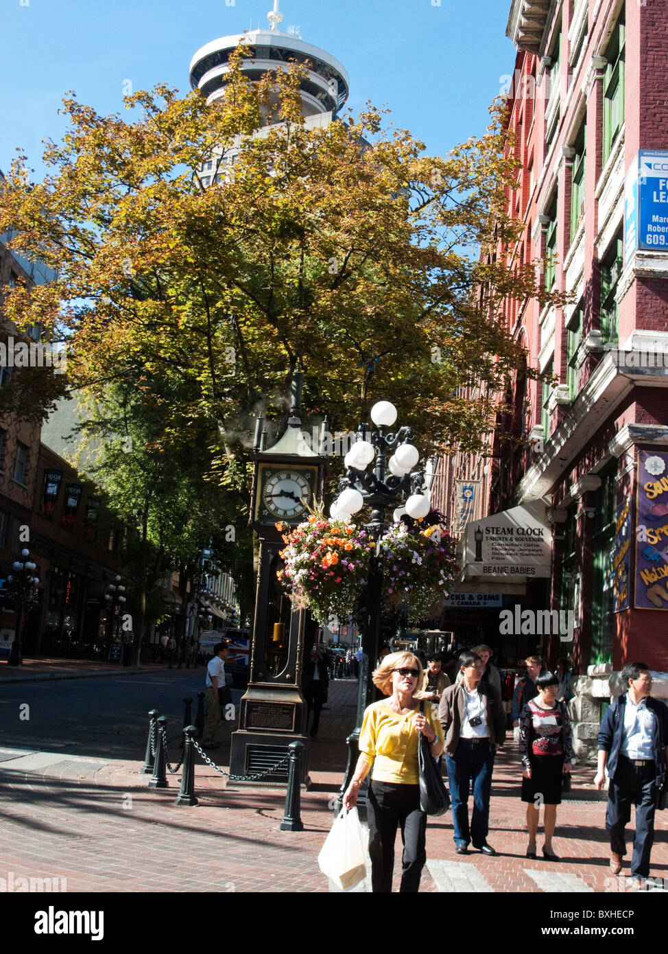Water Street, Gastown, Vancouver, British Columbia, Canada, North America - Stock Image