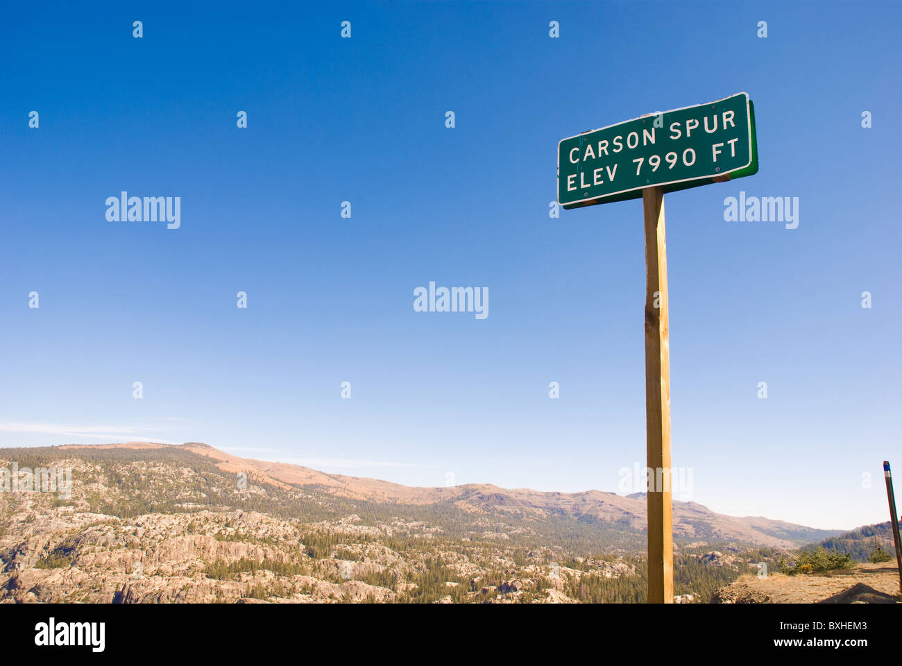 Scenic view of Carson Spur in Sierra Nevada Mountains, California Stock Photo