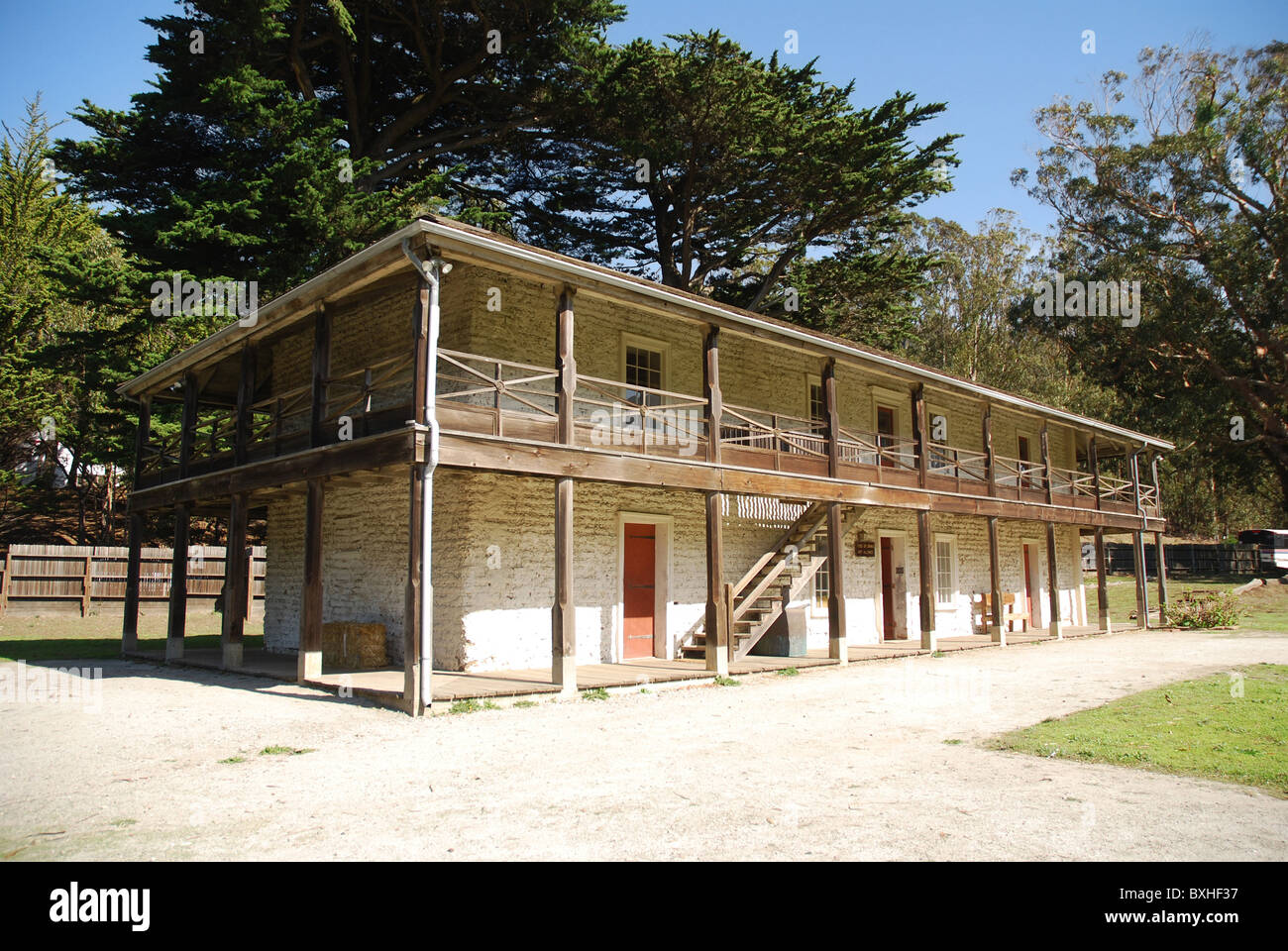 Historic Sanchez Adobe in Pacifica, California Stock Photo