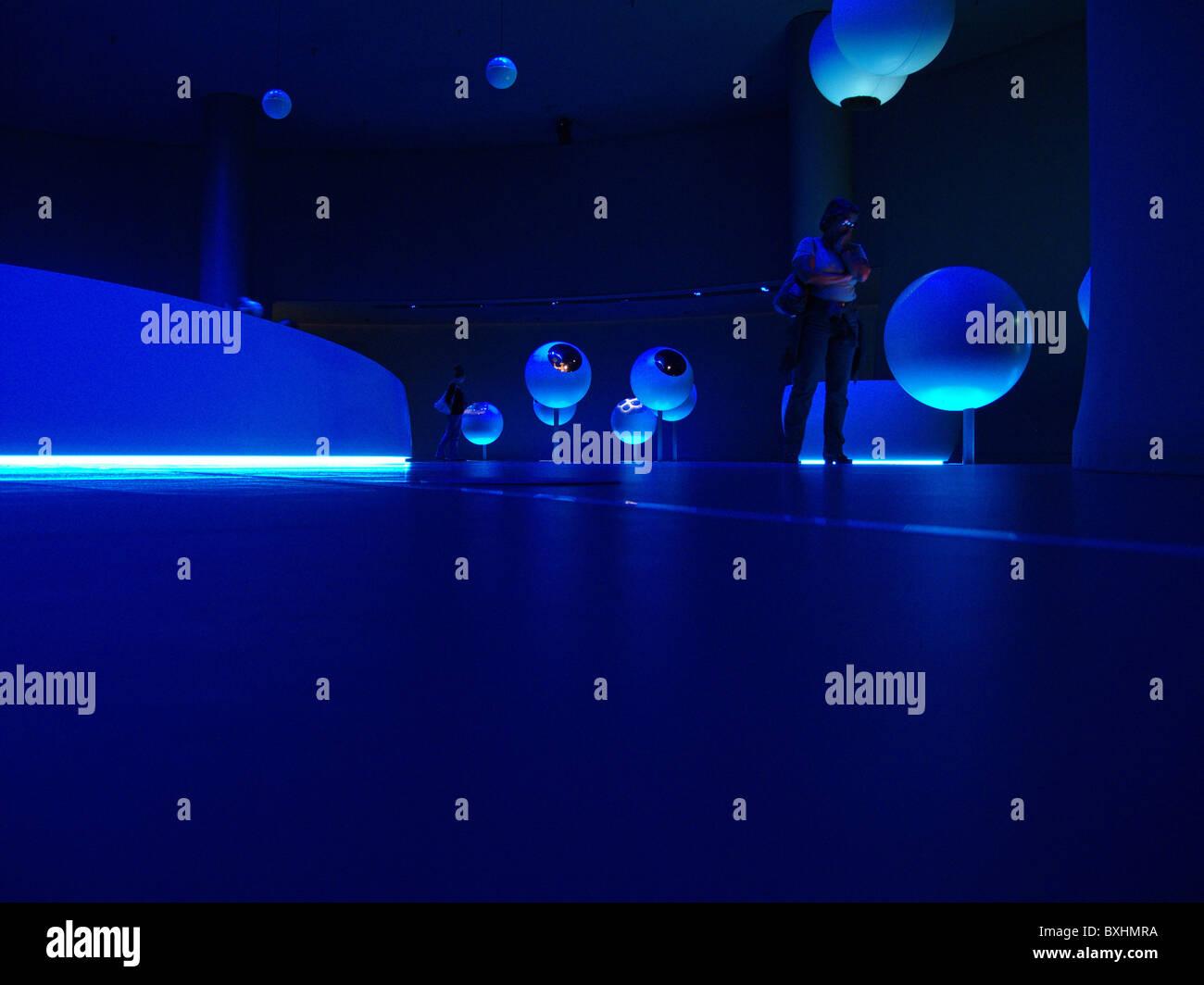 Universe of Particles exhibition, Cern, Geneva, Switzerland - Stock Image
