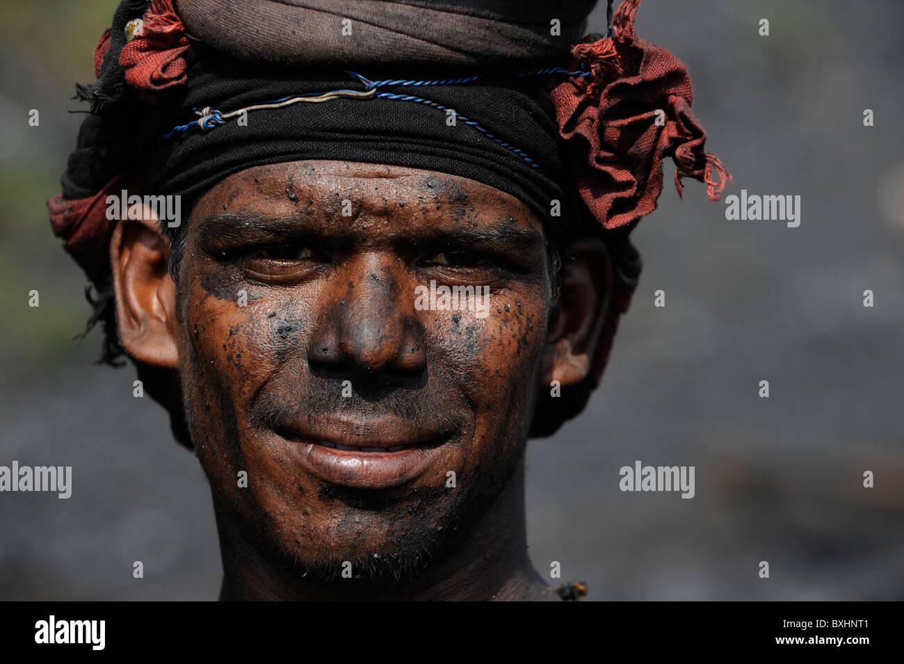 India Jharkhand Dhanbad , coal mining of Bharat coking coal Ltd. - Stock Image