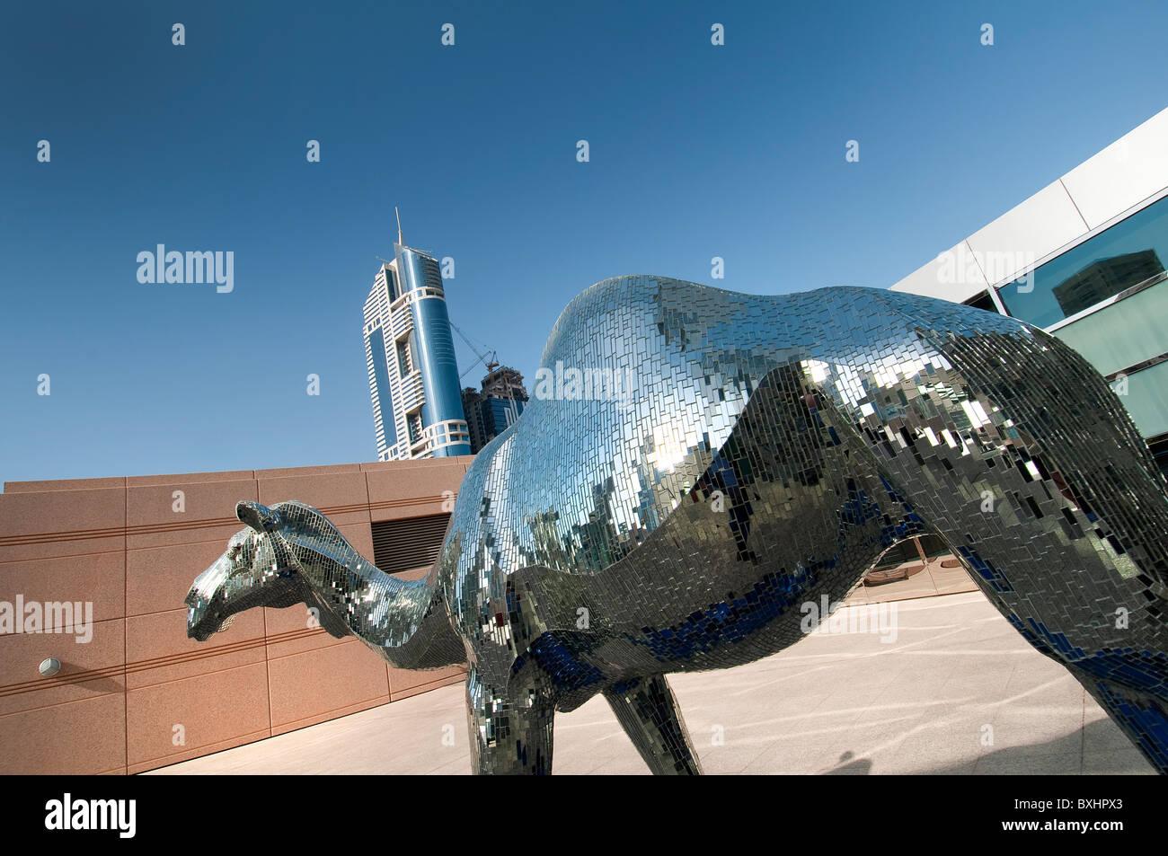 A camel mirrors statue in Dubai Stock Photo: 33582587 - Alamy
