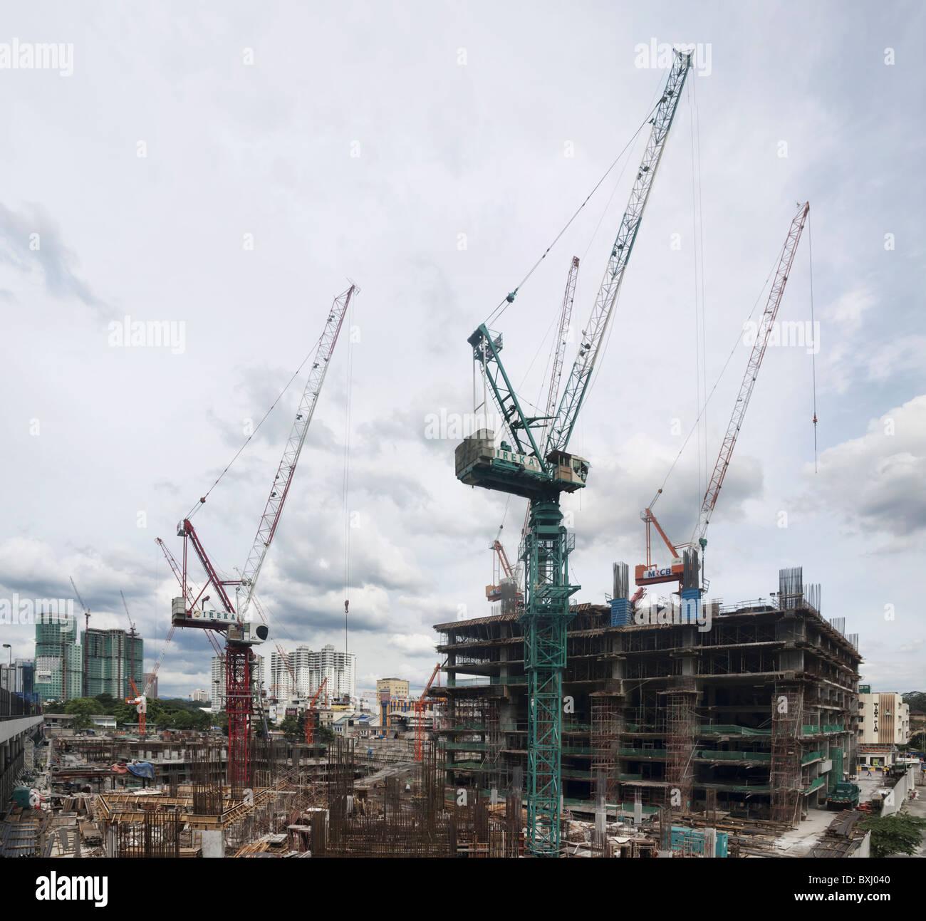 Kuala Lumpur construction site - Stock Image