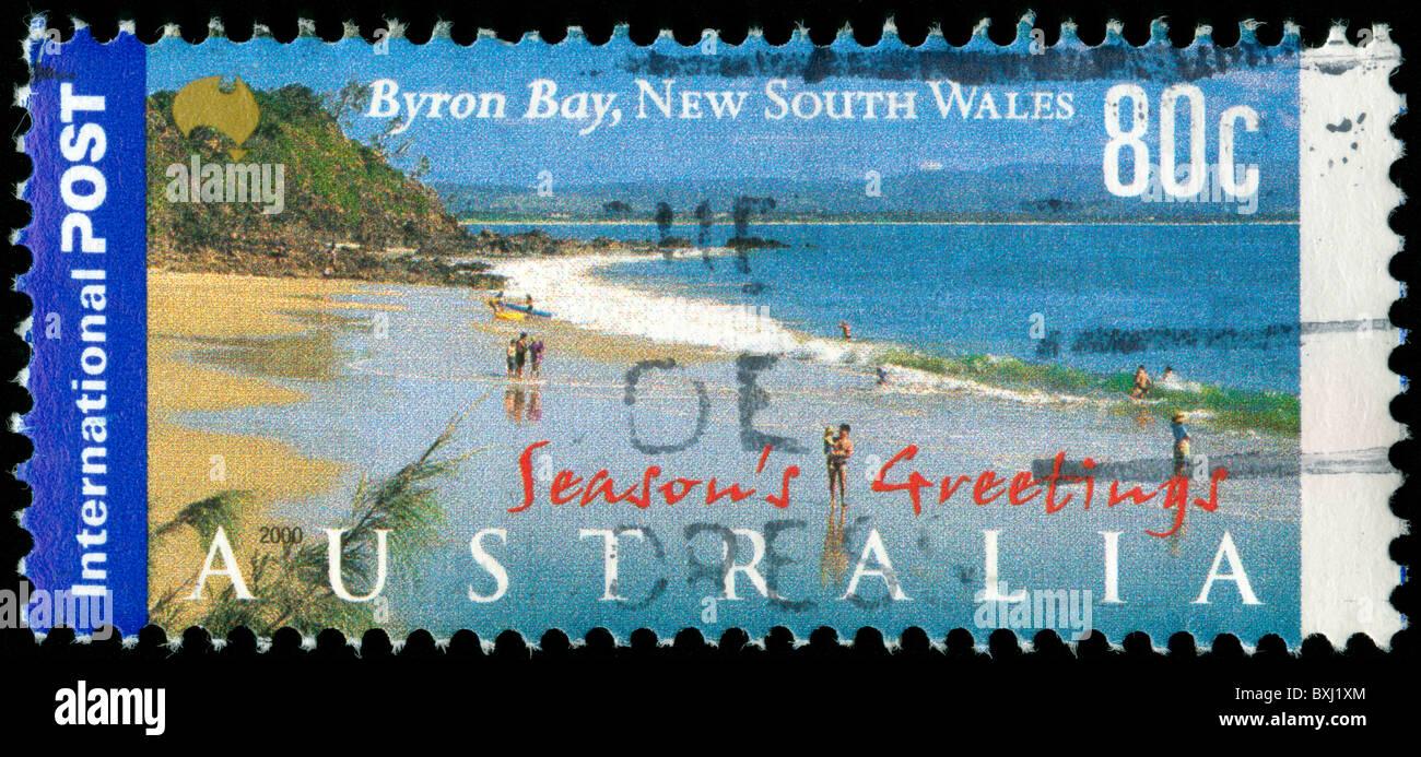 Australia Stamp Byron Bay Stock Photos Australia Stamp Byron Bay