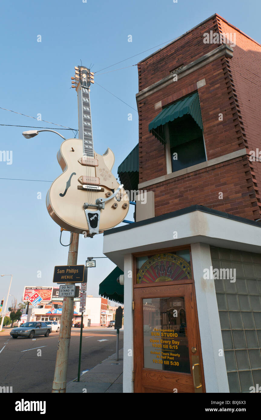 Sun Studio, recording facility where many music legends began their careers, including Elvis Presley, Johnny Cash - Stock Image