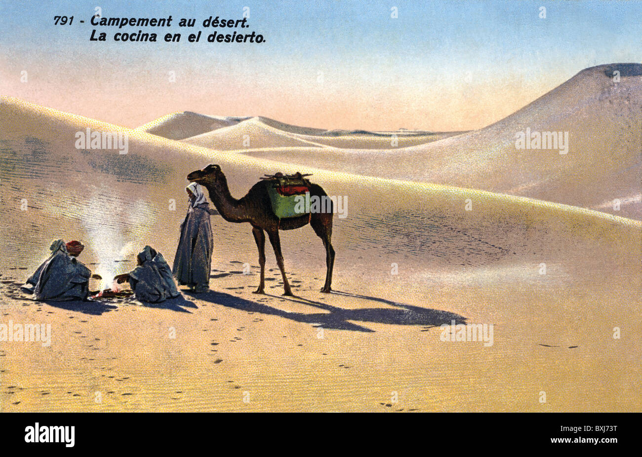 geography / travel, Morocco, Spain, bedouins, Sahara desert, circa 1920, Additional-Rights-Clearences-NA - Stock Image
