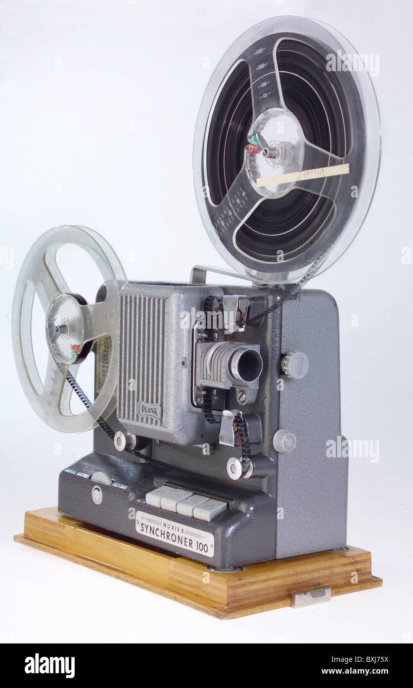cinema / film, film projector, Normal 8, made by Plank, type Noris 8 Synchroner 100, Germany, 1960, 1960s, 60s, - Stock Image