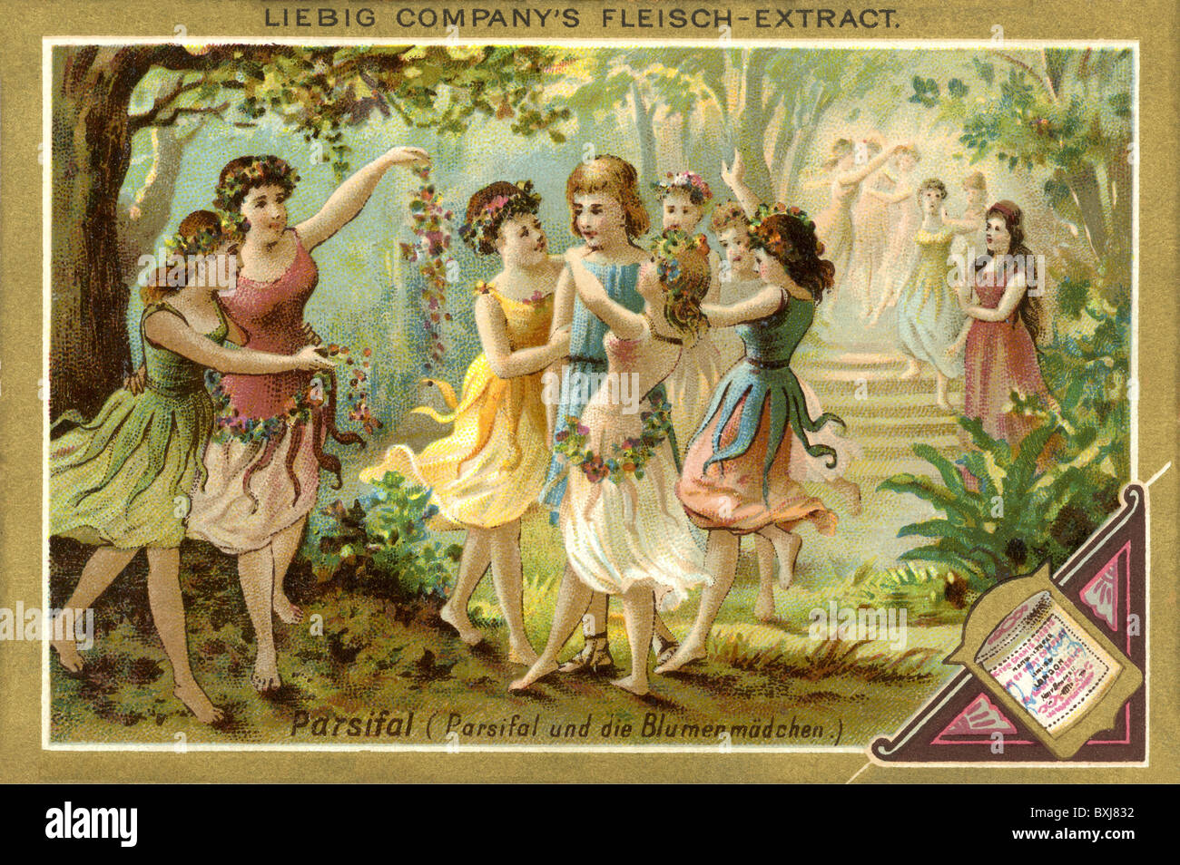 music, opera, Richard Wagner, 'Parsifal', second act: Klingsor's magic garden, scene: flower girls with - Stock Image