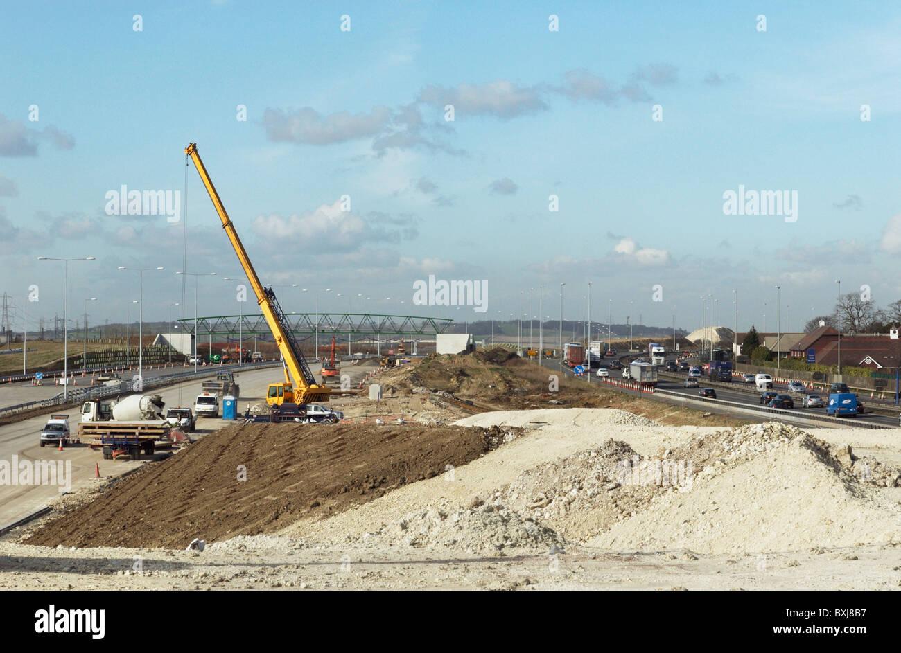 Junction upgrade of A2 near Bean Kent UK Stock Photo