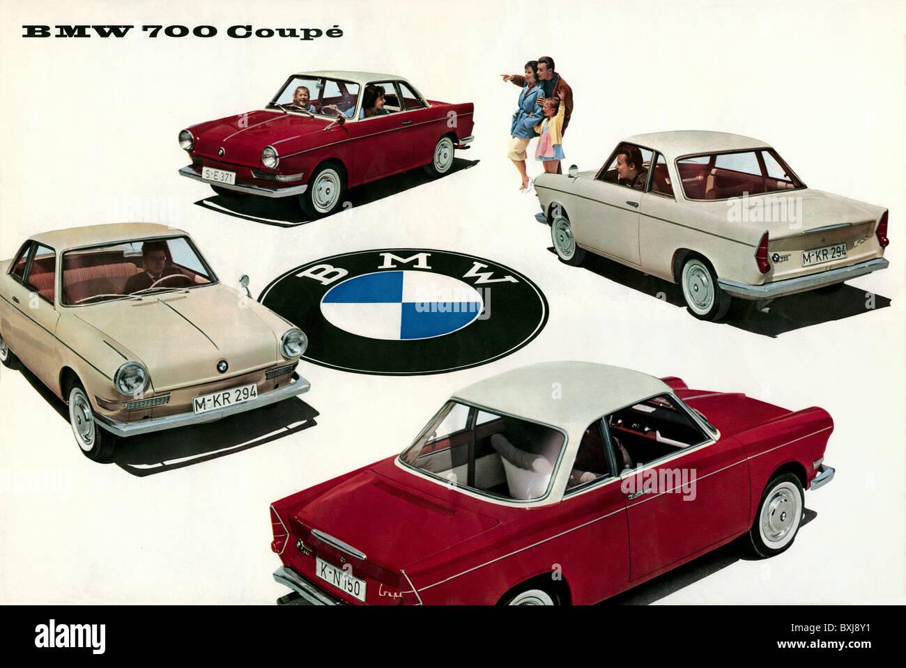 transport / transportation, car, vehicle variants, BMW 700 Coupe, build 1959 until 1964, advertising, Bavaria, Germany, - Stock Image