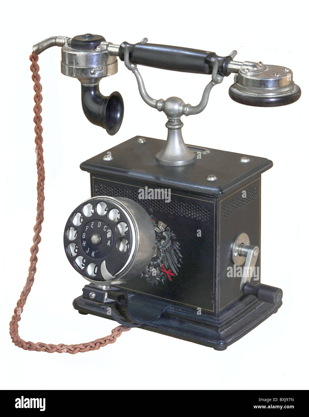 technics, telephone, 'Emperor Wilhelm ZB/SA 05/13', German Reichspost, reconstructed after 1913, Germany, - Stock Image