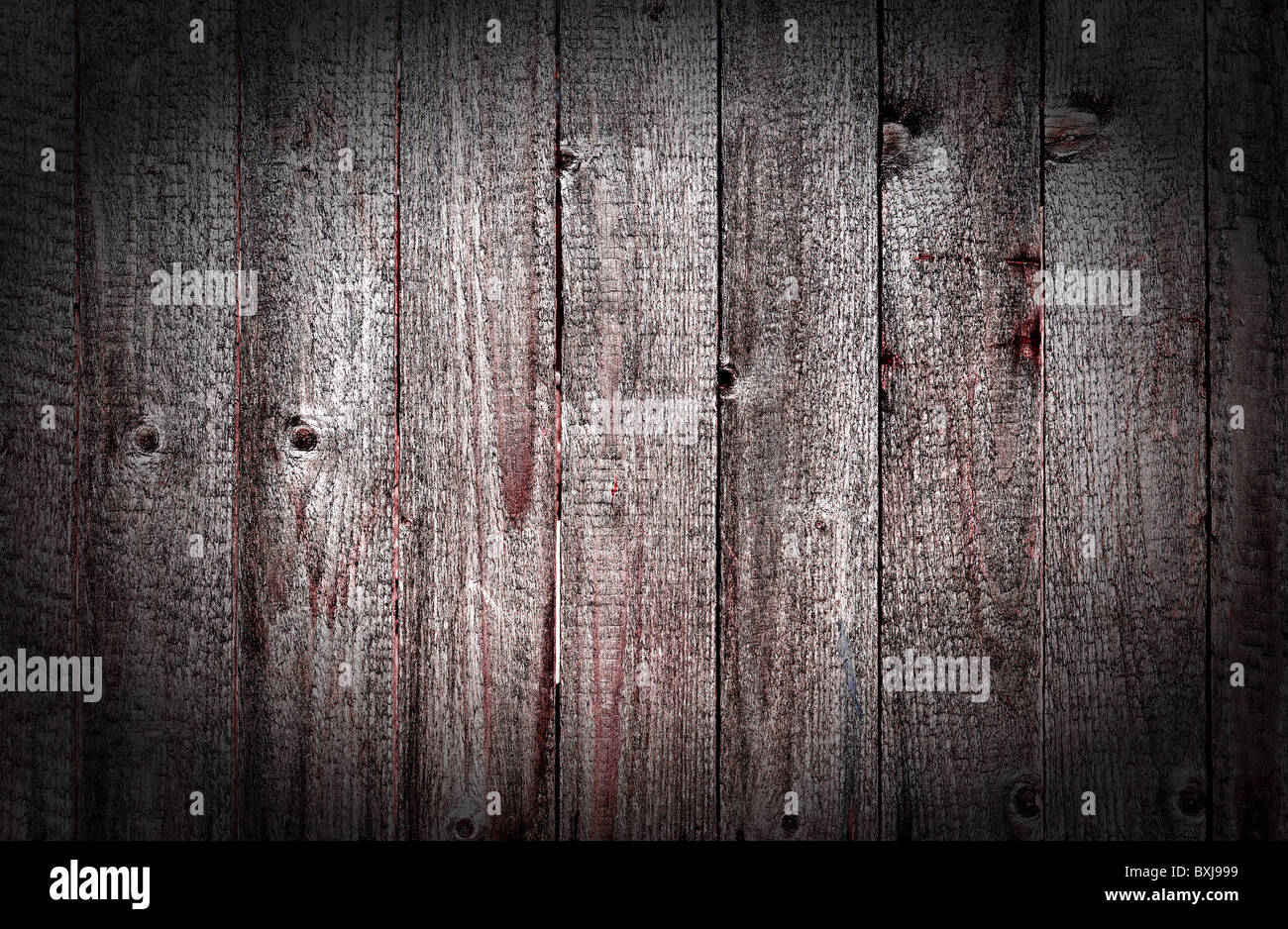 Obsolete wooden rough planks - Stock Image